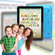Wireless Pro® Childrens Multimedia Learning Toy Tablet Styled Device with Music Sounds Numbers Letters Words and Phrases 6 Play Modes and 49 Push Buttons Perfect for Babies and Toddlers (Blue)