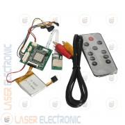 MINI DVR BOARD HD08 SD CARD 720P CON BATTERIA LITIO 500mA 4 ORE