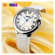 Louiwill Momento De La Piel Belleza De La Moda Señoras Reloj Del Indicador Del Reloj Impermeable Temperamento De La Personalidad Sencilla De Tabla De La Manera Estudiantes De Sexo Femenino (blanco)