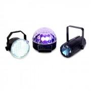Beamz Light Package - Set de iluminación LED 3 piezas (Sky-153.736)