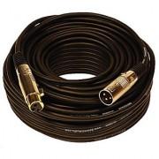 Seismic Audio SAPGX-100Black Premium 100' XLR Microphone Cable Cord - 3 Pin XLRF to XLRM Mic Cord Black