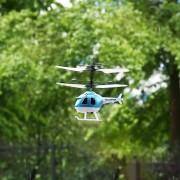 ER RC Voladora Mini RC Helicóptero De Inducción De Infrarrojos Avión Juguetes Para Niños - Azul