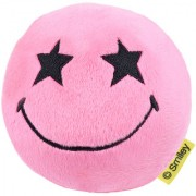 SmileyWorld Star Eyes Expression Soft Toy Ball 4 Inches Pink by Ultra