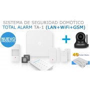 PACK de Alarma SIN cuotas Domótica TA-1 + CAMARA IP + MIFI4G