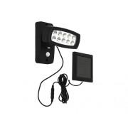 Kit solar cu proiector LED si senzor de miscare Palizzi 2W 150 lumeni, plastic