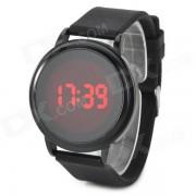 elegante reloj de pulsera con pantalla tactil LED digital - negro (1 x CR2032)