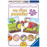 Puzzle La Ferma, 9x2 piese, RAVENSBURGER Puzzle Copii