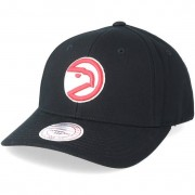 Mitchell & Ness Keps Atlanta Hawks Team Logo Low Pro Black Adjustable - Mitchell & Ness - Svart Reglerbar