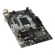MSI H110M PRO-D, Intel H110, VGA by CPU, PCI-Ex16, 2xDDR4, SATA3, DVI/USB3.0, mATX (Socket 1151)