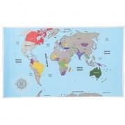 Geen Wereld kraskaart poster 52 x 88 cm