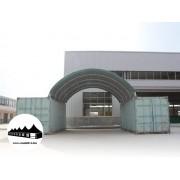 Konténer fedés 8x12m - 720g/m2 PVC / Tűzálló / Zöld