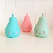 A Little Lovely CompanyNattlampa, Mini Pear, Blå