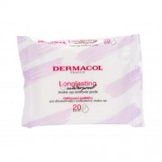 Dermacol Longlasting & Waterproof chusteczki oczyszczające 20 szt dla kobiet