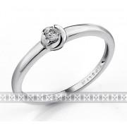 Zásnubní dámský zlatý prsten z bílého zlata s diamantem (briliant) 1,5gr 0,06ct