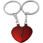 Faynci Ultimate Couple gift for Valentine Day Red Heart Key Chain