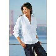 Womens Capture European Ribbed 1/2 Zip Sweater - White