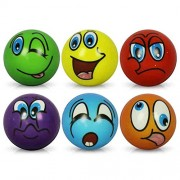HC-Handel 6 X Anti-Stress Ball - Funny Faces on a Soft Assorted Cm