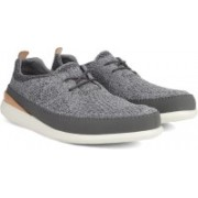 Clarks Pitman Run Grey Sneakers For Men(Grey)