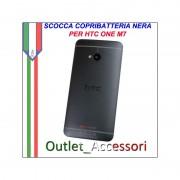 Scocca Copribatteria Telaio Cover Cornice Housing per HTC ONE M7 Nero black