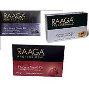 Raaga Professional Anti-Ageing+ Platinum+Fairness Facial Kit 43 g Pack of 3