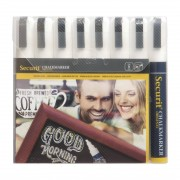 Securit 6mm Liquid Chalk Pens White (Pack of 8)