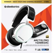 Слушалки Steel Series Arctis PRO + Gamedac White Wired
