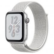 Apple Watch Nike+ Series 4 GPS 44mm Alumínio Prateado com Bracelete Loop Nike Branca Polar