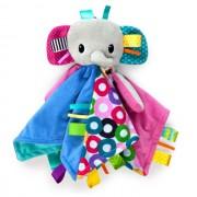 Plišana igračka i ćebence za bebe Kids II Caddle `n Tags Blankie 10213 Elephant