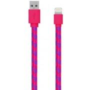 Cablu de date Serioux SRXA-MFI1MFAB-PNK, Lightning - USB, 1m (Roz)
