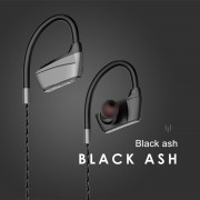 IPX5 Waterproof Wireless Hands-free Bluetooth 5.0 Earhook Sports Headphone for iPhone Samsung etc. - Black Ash