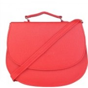 Skyways Women Casual Red Leatherette Sling Bag
