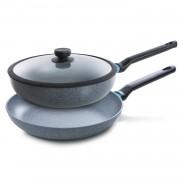 BK Blue Label Granite pannenset - koekenpan & hapjespan - ø 28 cm