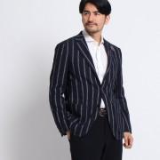 【SALE 50%OFF】タケオ キクチ TAKEO KIKUCHI 砂子縞柄シングルジャケット[ メンズ ジャケット ] (ブルー)