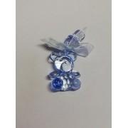 Marturie ursulet cu suzeta cristal albastru 3cm
