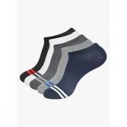 Balenzia Men's Pack of 5 Multicoloured Low Cut Socks