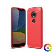 Motorola Moto E5 / G6 Play Удароустойчив Carbon Fiber Калъф и Протектор