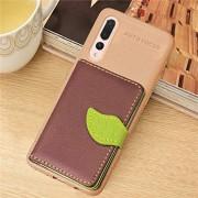 YINGJUN-PHONE CASES PU del tirón del cuero Casos Funda de cuero magnética estilo hoja con soporte y ranuras for tarjetas y billetera y marco de fotos for Huawei P20 Pro Cubierta de teléfono ( Color : Brown )