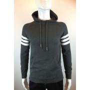 Spy Henry Lau Sleeve Stripe Knitted Hooded Long Sleeved Sweater PH898MKNGRY