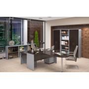 Set mobilier birou executiv Imago wenge gri metalic