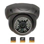 GW Security Inc GW Security 5 Megapixel 2592 x 1920 Pixel Super HD 1920P H.265 Hi-Resolution Network PoE Wide Angle View Security Dome IP Camera