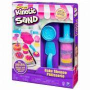 Nisip kinetic modelabil pentru copii - Kinetic Sand - Brutaria - 16 forme si accesorii