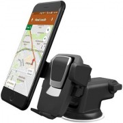 Rodex Car Mobile Holder Single Clamp for Dashboard Windshield - Black
