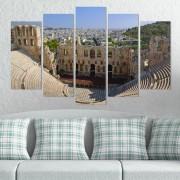 Декоративни панели за стена с изглед на древен амфитеатър в Атина Vivid Home