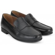 Clarks Claude Lane Black Leather Slip On For Men(Black)