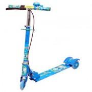 Kajal Enterprise Kids 3 Wheeler Foldable Height Adjustable Scooter with Break & Bell (Blue)