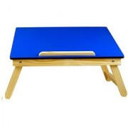 IBS Plain MDF Color Portable Laptop Ttable Engineered Wood (Finish Color - Blue)