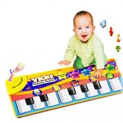 HANYI New Touch Play Keyboard Musical Music Singing Gym Carpet Mat Best Kids Baby Gift