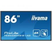 "IIYAMA ProLite TE8668MIS-B1AG monitor touch screen 2,17 m (85.6"") 3840 x 2160 Pixel Nero Multi-touch Multi utente"