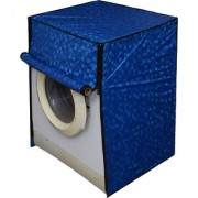 Dream Care Blue Colour with Square Design Washing Machine Cover for Fully Automatic Front Loading Bosch WAB16161IN 6 KG