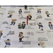 3 részes ágytakaró szett 220x240 cm drapp - arany virágos